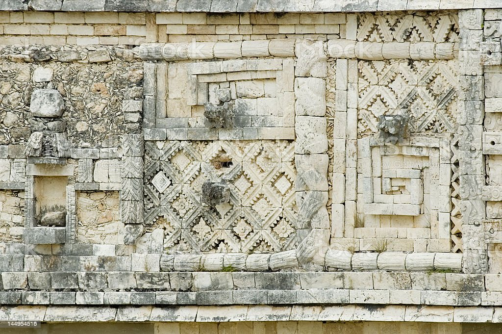 Uxmal pyramid ruins Mexico royalty-free stock photo