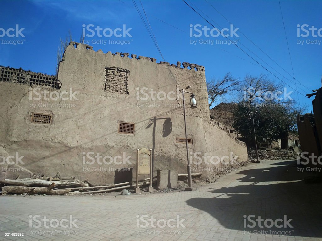 Uyghur Traditional Local-style Dwelling Houses stock photo