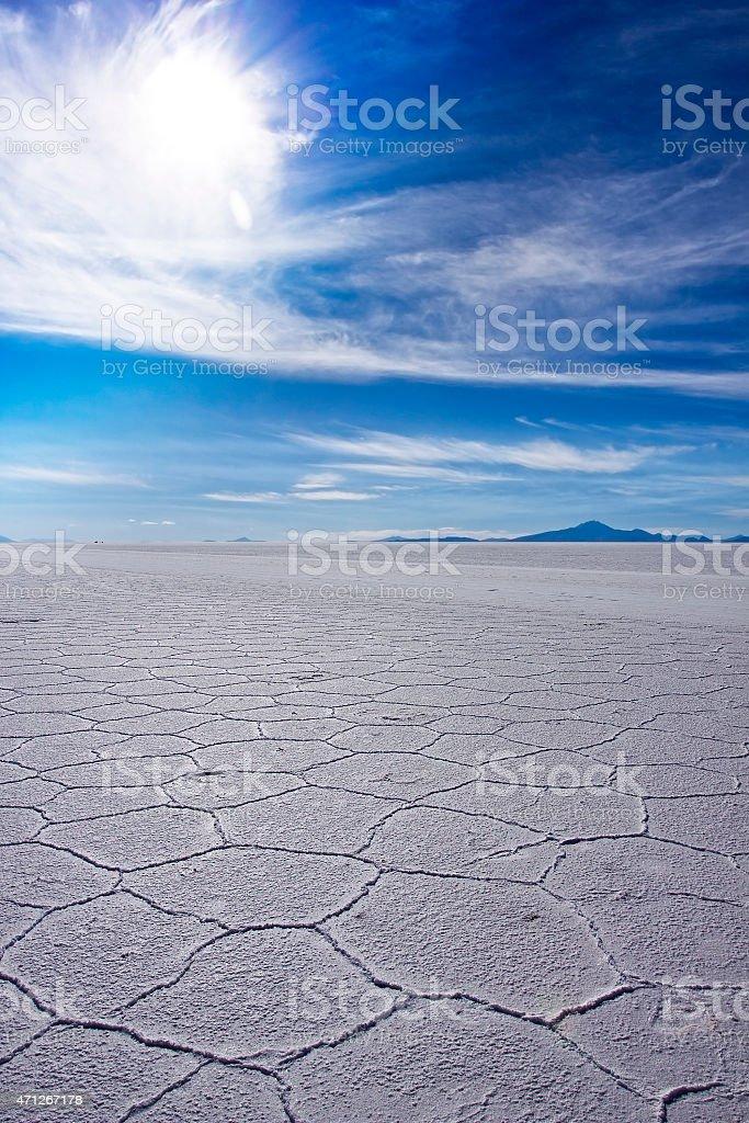 Uyuni salt flat stock photo