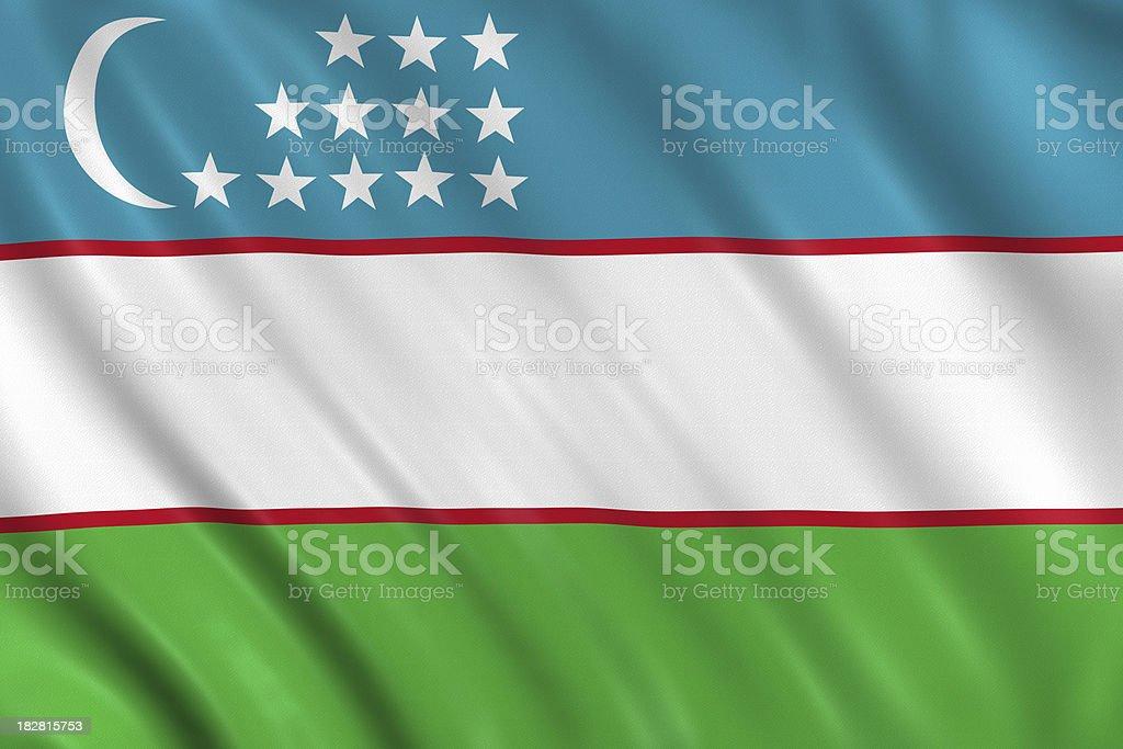 uzbekistan flag stock photo