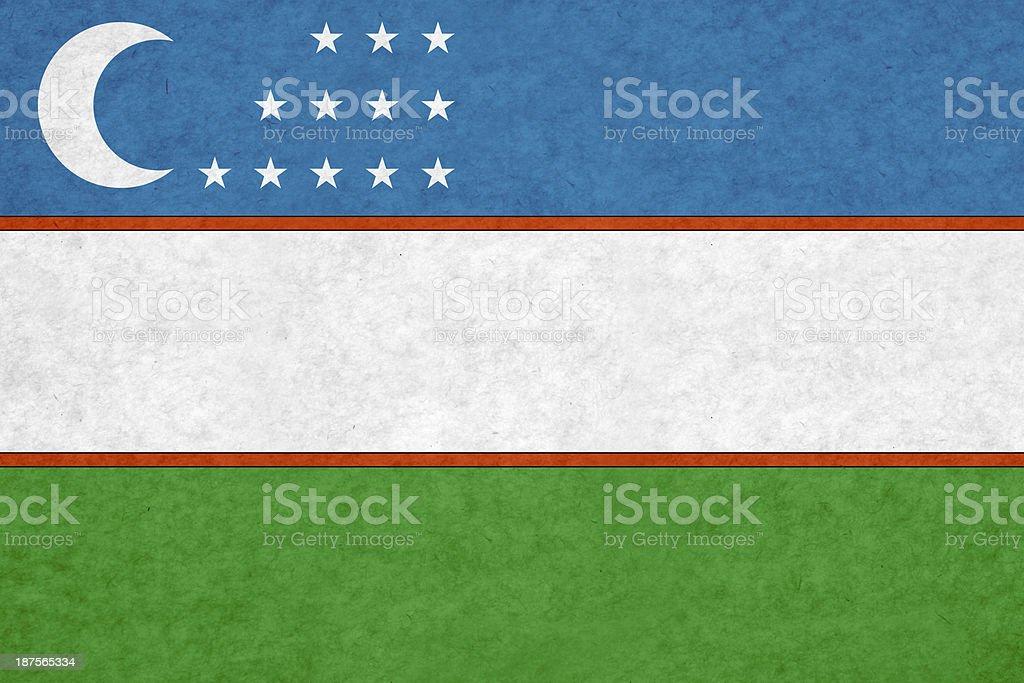 Uzbekistan flag royalty-free stock photo