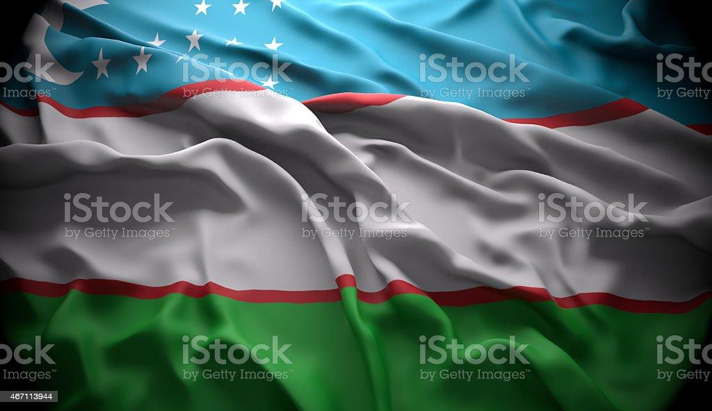 Uzbekistan, Tashkent national official state flag stock photo