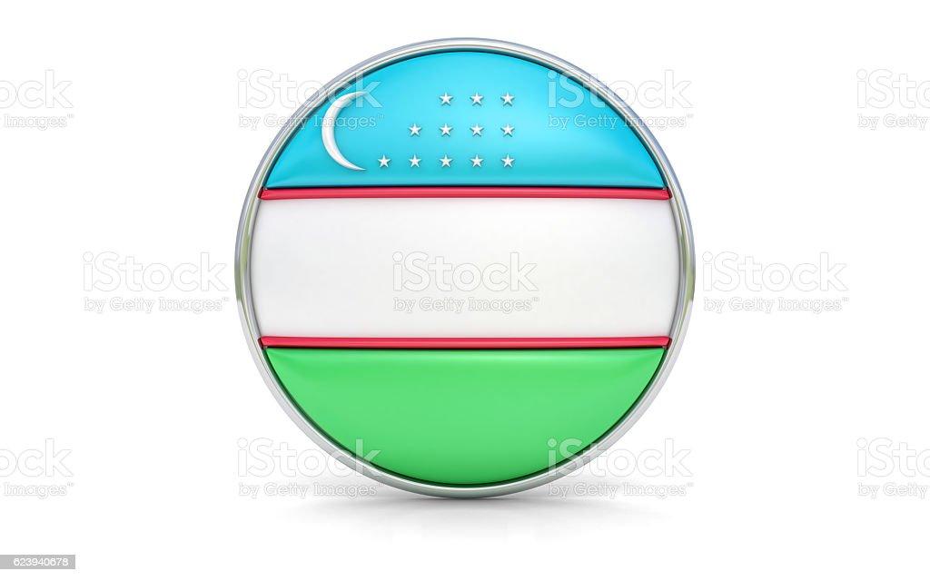 Uzbekistani flag stock photo
