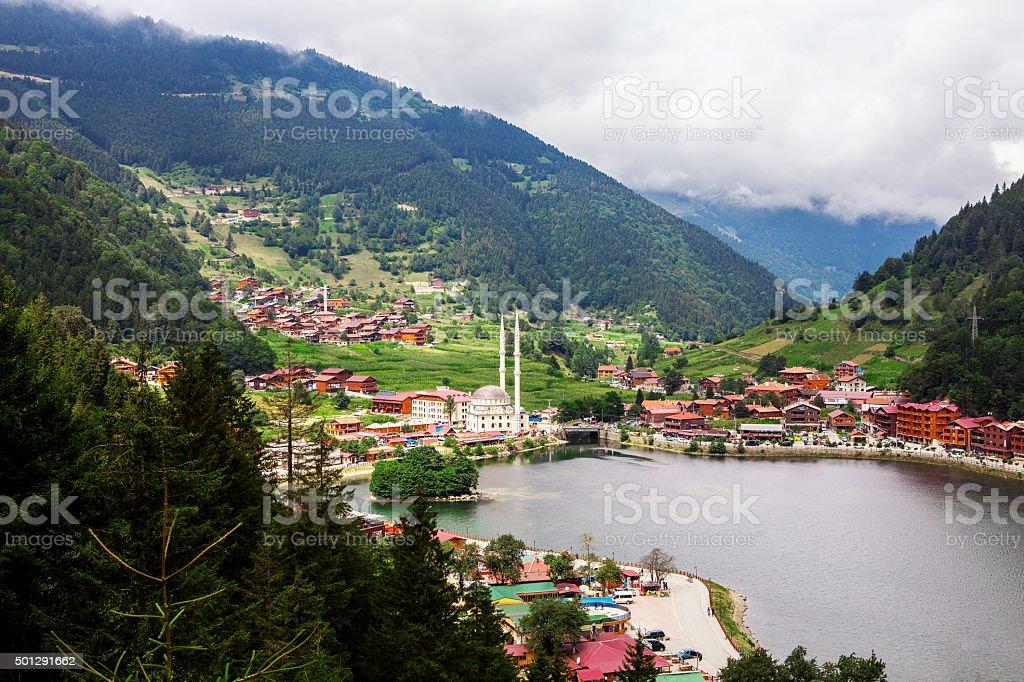 Uzungol in Trabzon stock photo