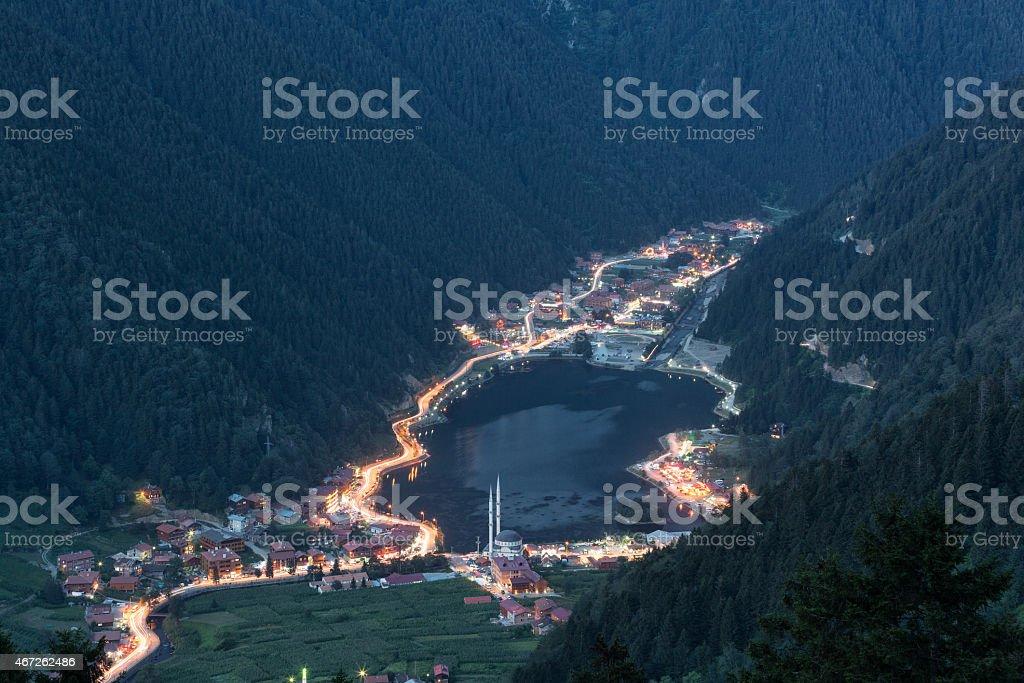 Uzungol in Trabzon, Turkey stock photo