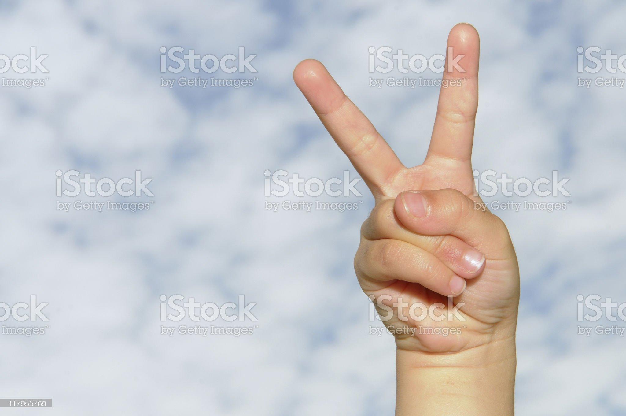 v sign royalty-free stock photo
