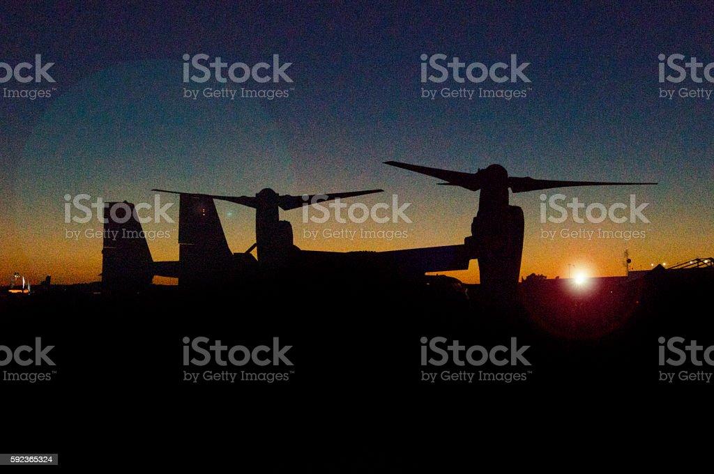 v-22 Osprey aircraft stock photo