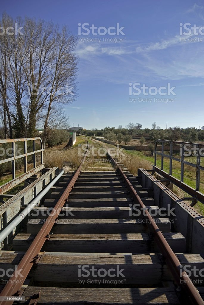V?a del Tren Abandonada royalty-free stock photo