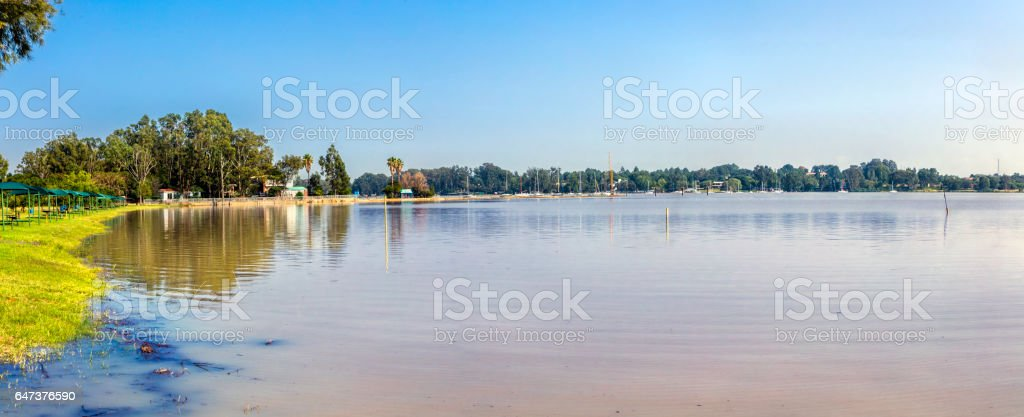 Vaal Dam in the Free State Province stock photo