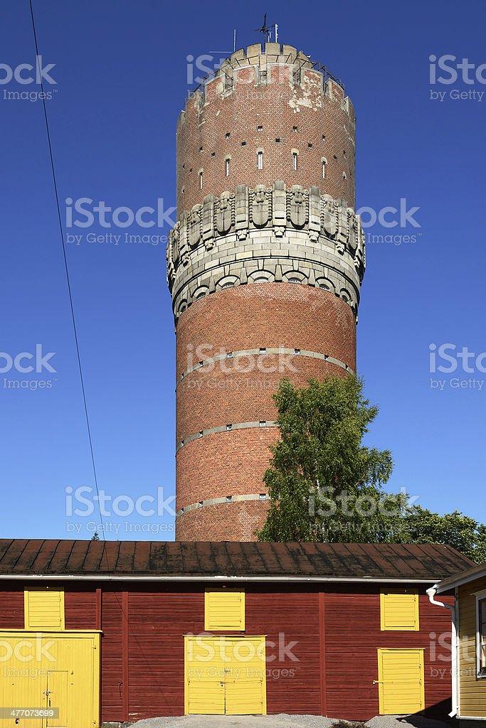 Vaasa water tower stock photo