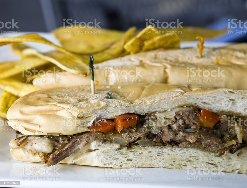 Vaca Frita Sandwich stock photo