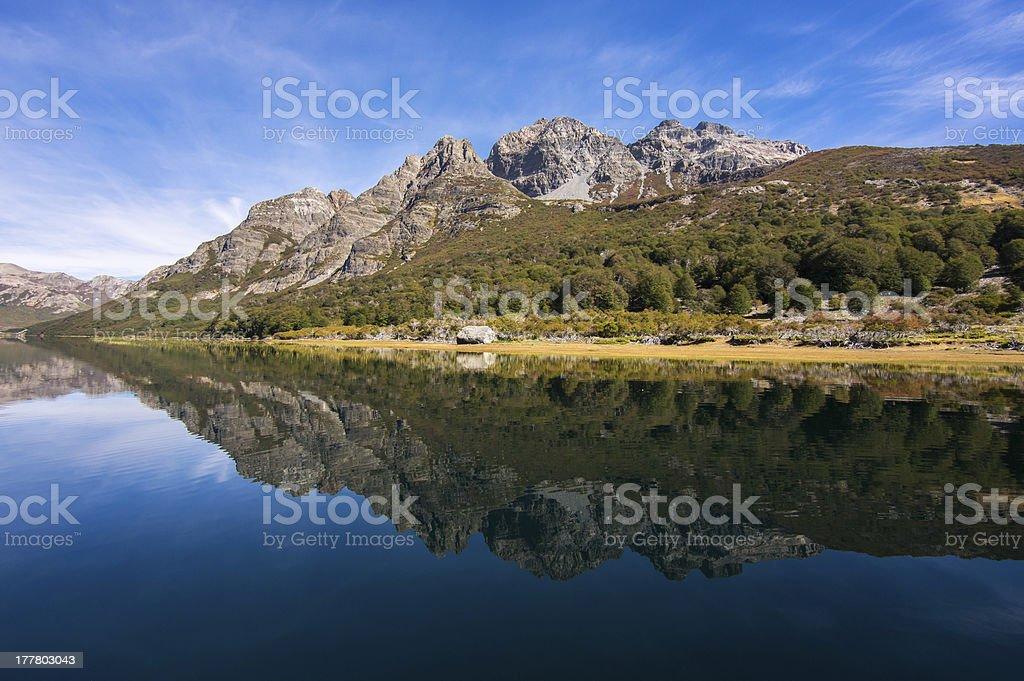 Vaca Lauquen Lake royalty-free stock photo
