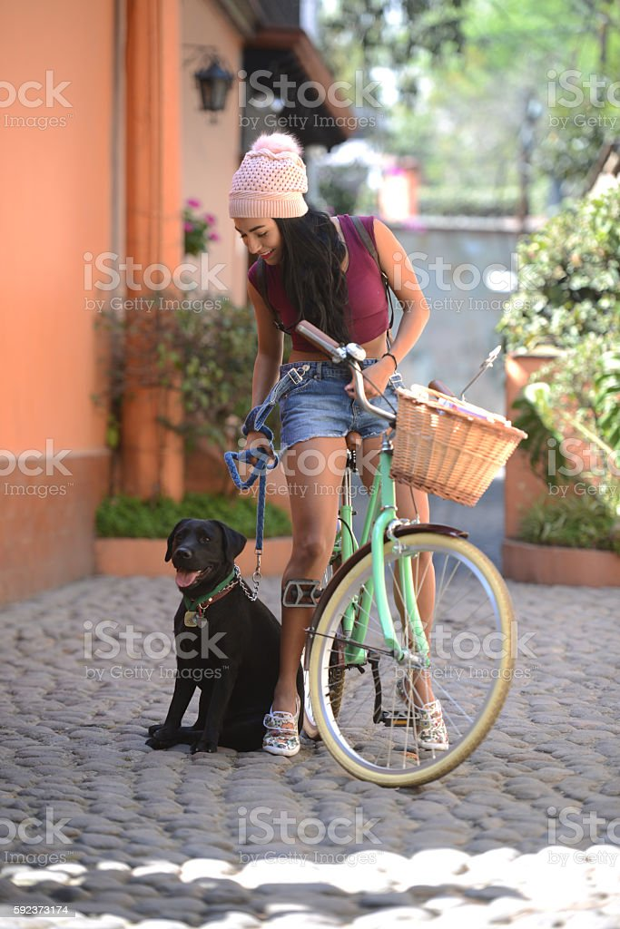 Vacaciones en Bicicleta stock photo