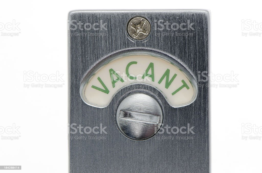 Bathroom Sign Vacant vacant bathroom door sign stock photo 184288414 | istock