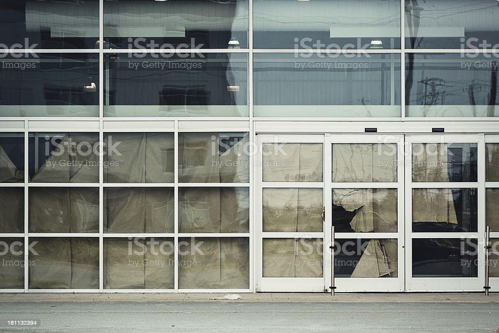 Vacant Big Box Store royalty-free stock photo