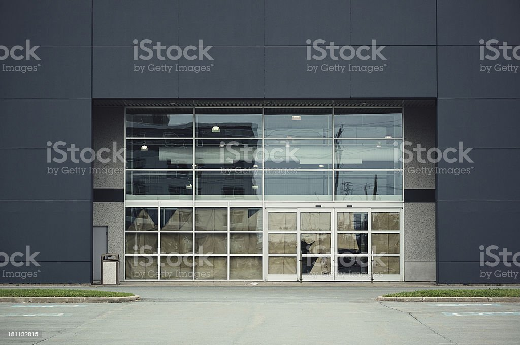 Vacant Big Box Store royalty-free stock photo