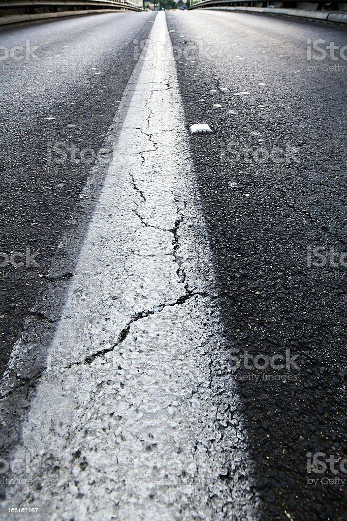 Vacant Diminishing Highway royalty-free stock photo