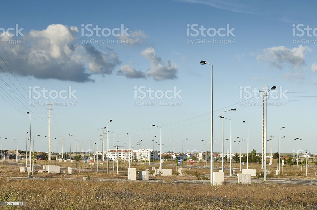 Vacant industrial lots royalty-free stock photo