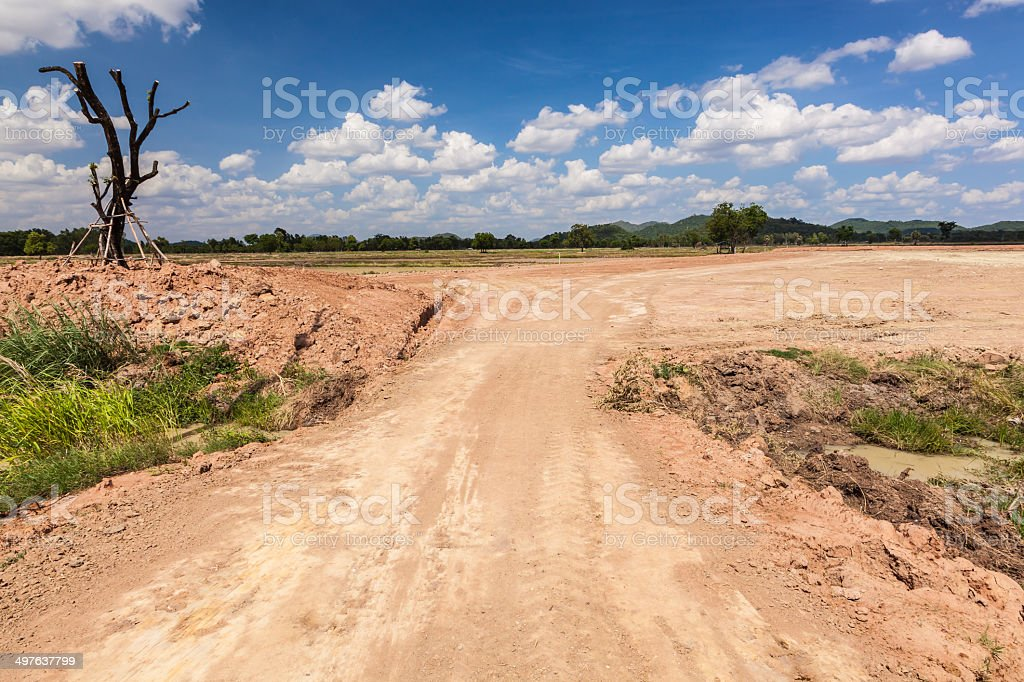 Vacant land stock photo