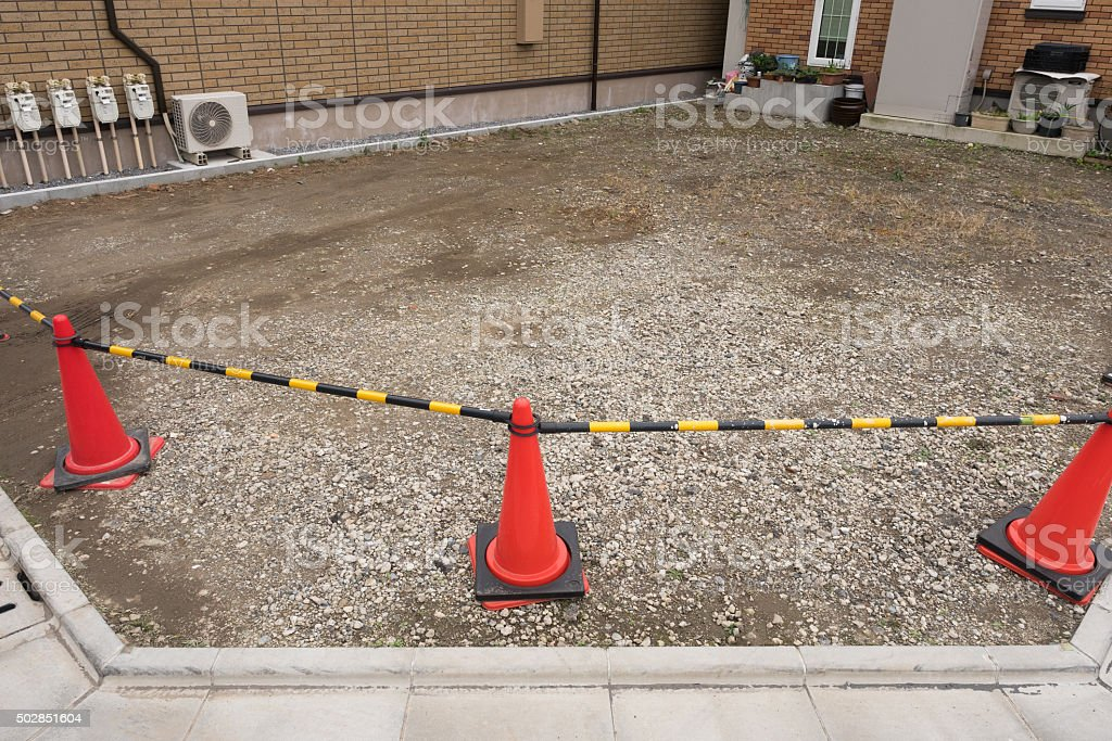 Vacant lot of a residential area in Tokyo stock photo