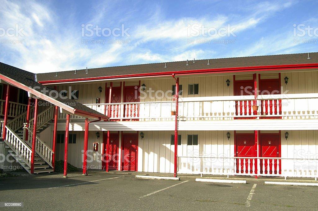 Vacant motel stock photo