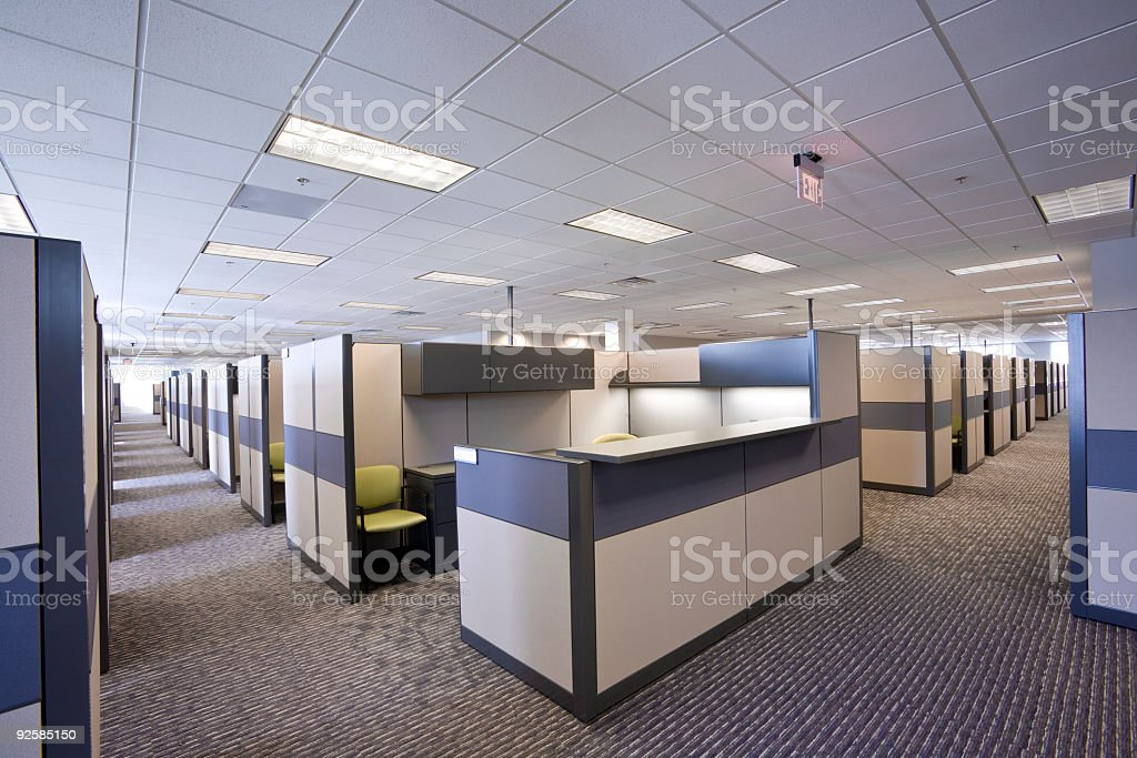 Vacant office stock photo