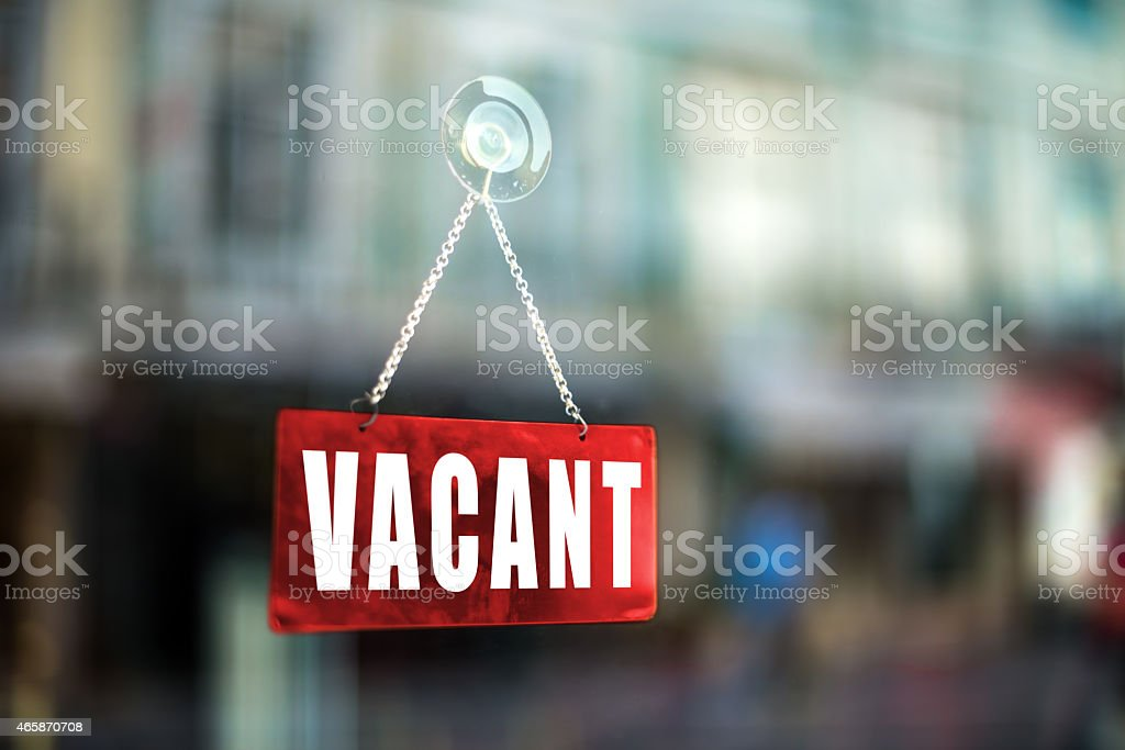 Vacant sign stock photo