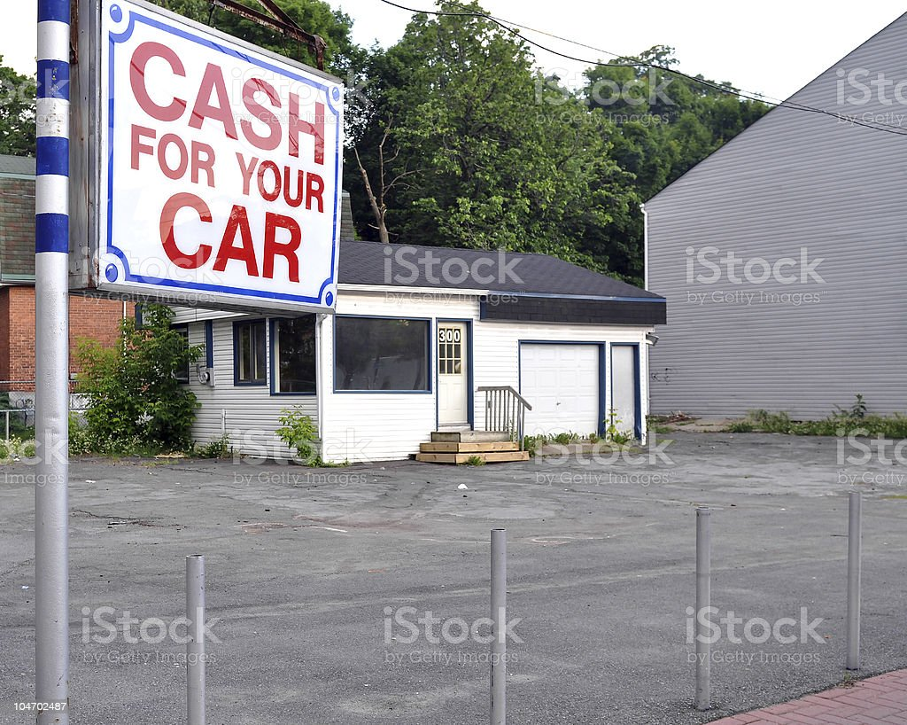 Vacant used car lot stock photo