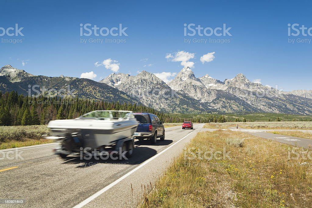 Vacation and Touring of the Grand Teton National Park royalty-free stock photo