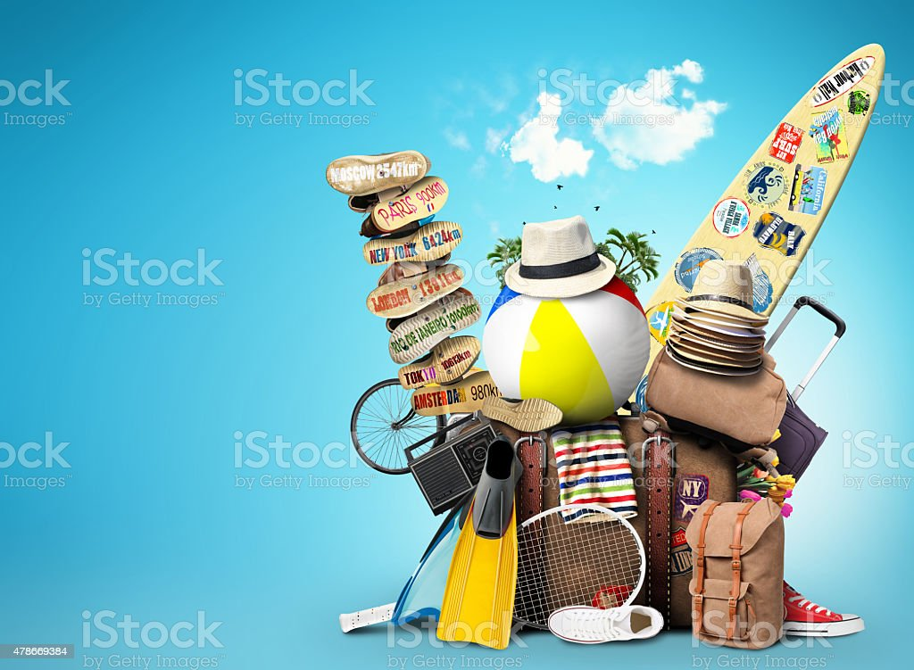 Vacation and tourism stock photo