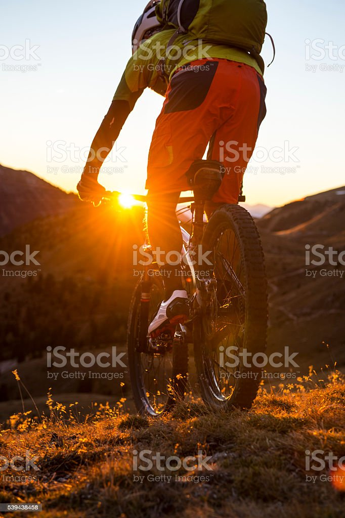 vacation and travel by bike stock photo