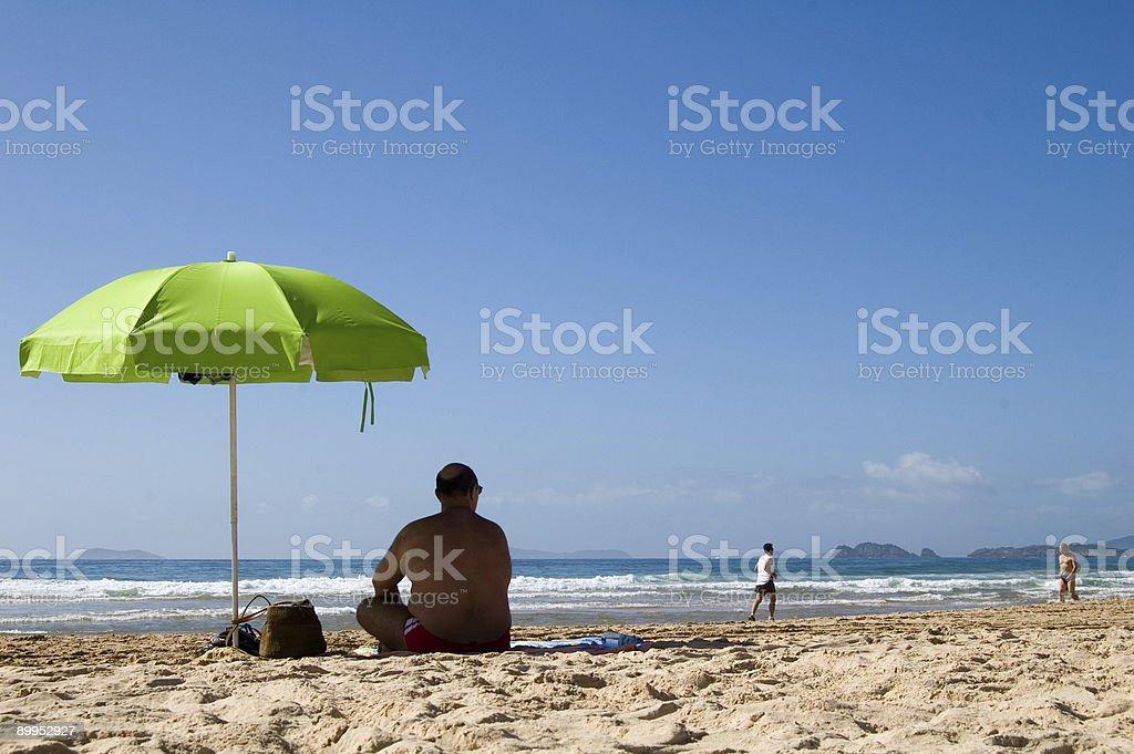 Vacation at beach royalty-free stock photo