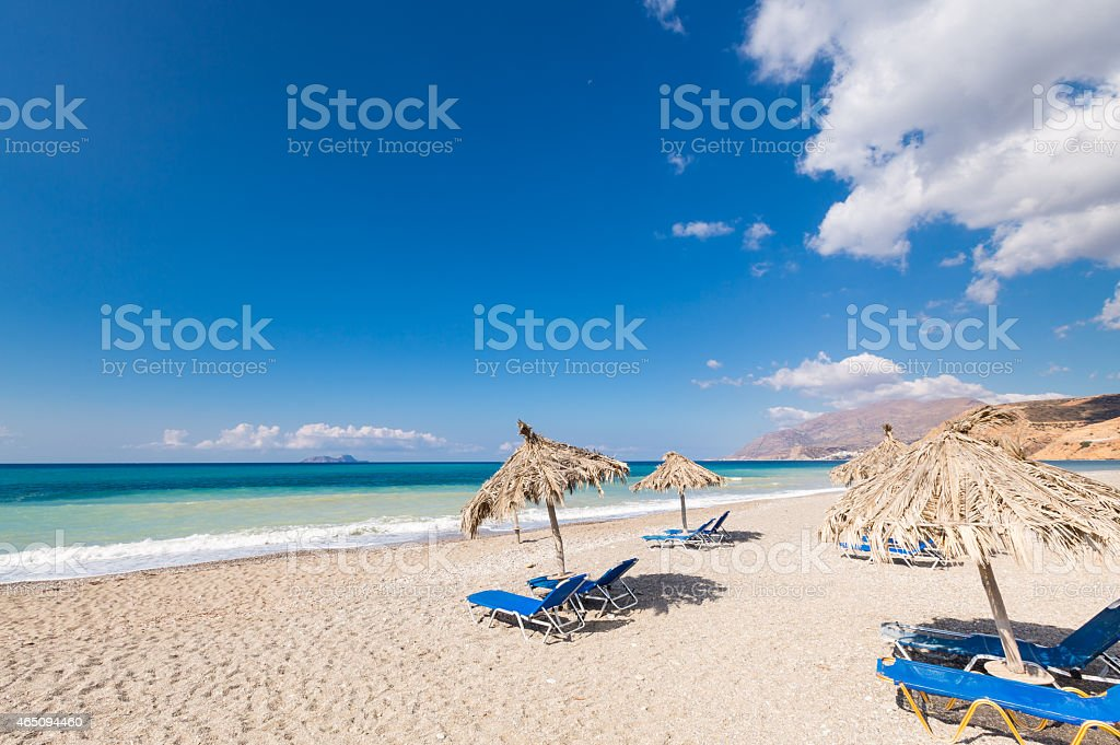 Vacation at Crete Beaches stock photo