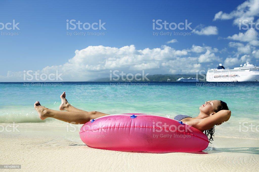 vacation at last stock photo