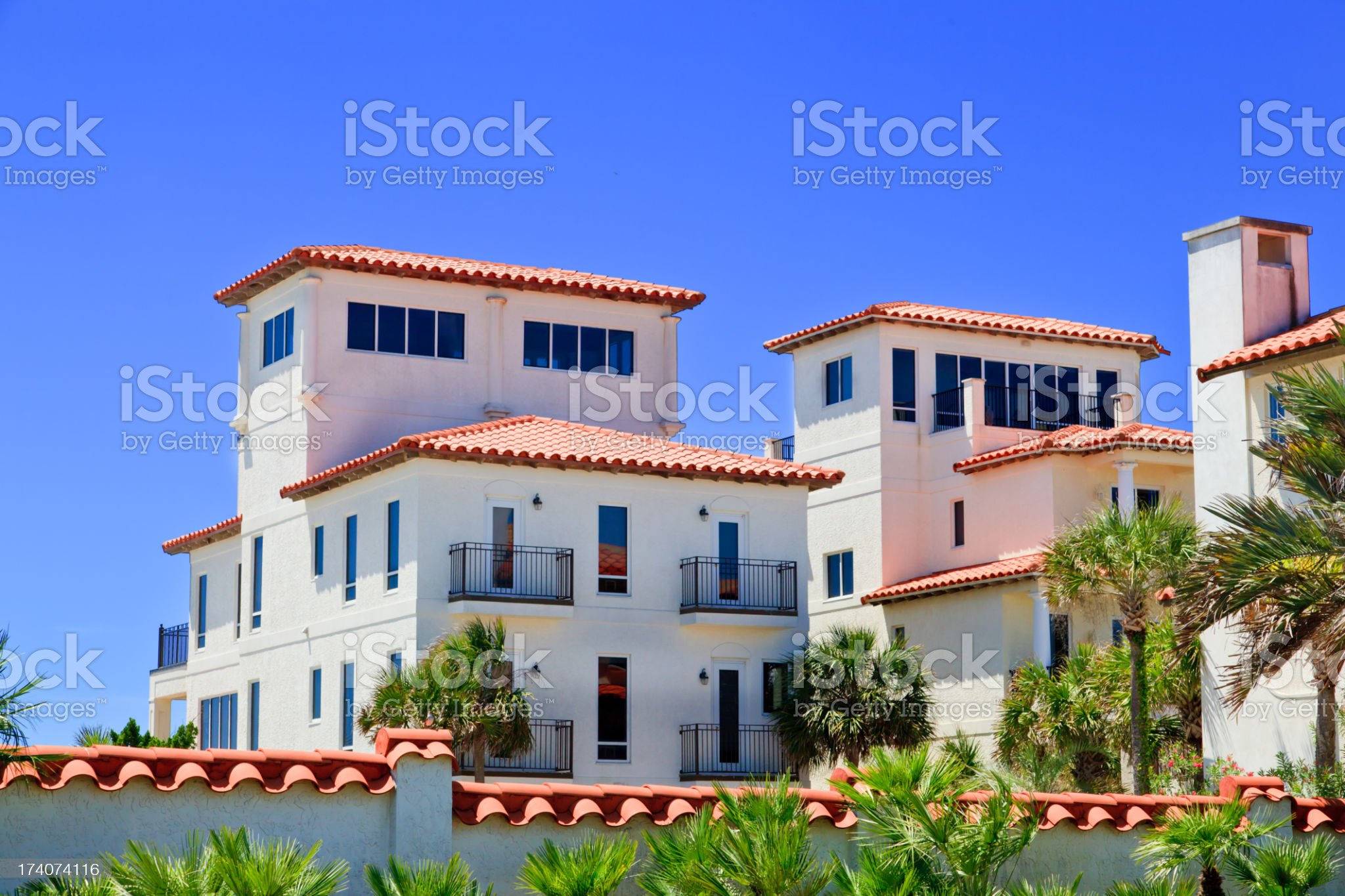 Vacation beach cottages on the Florida Gulf Coast royalty-free stock photo