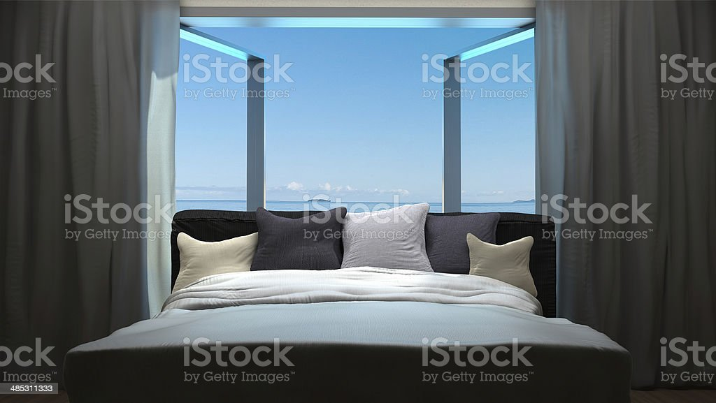 vacation concept background with interior stock photo