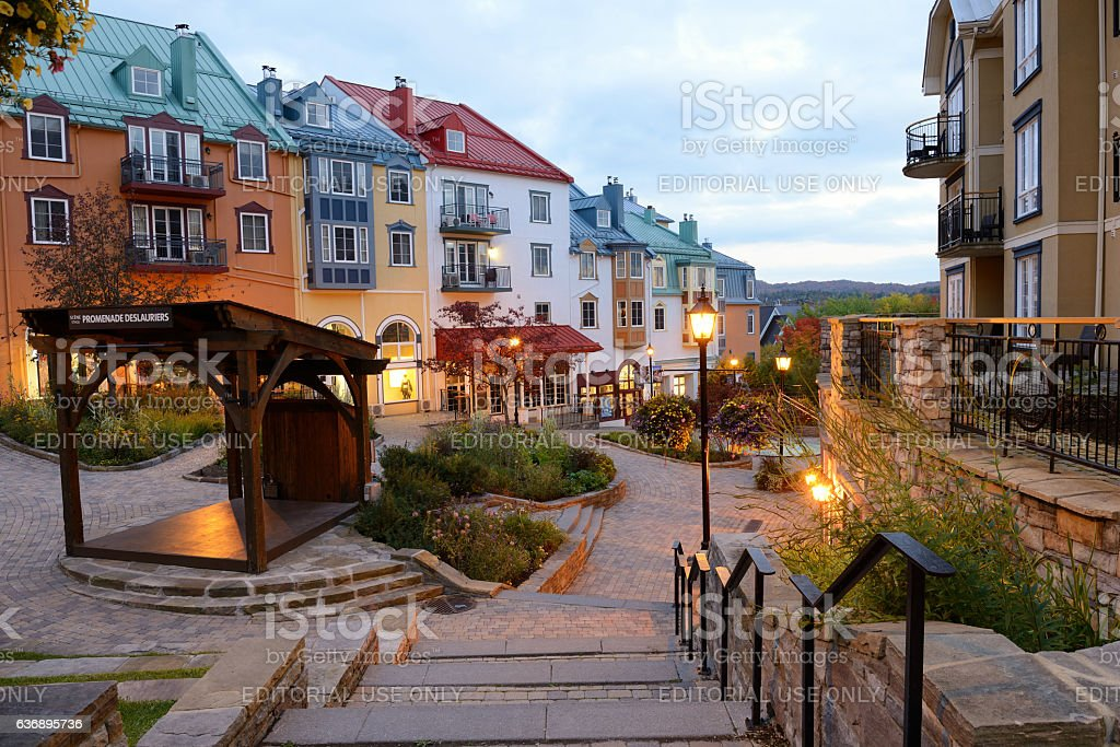 Vacation Condos in Mont Tremblant Resort stock photo