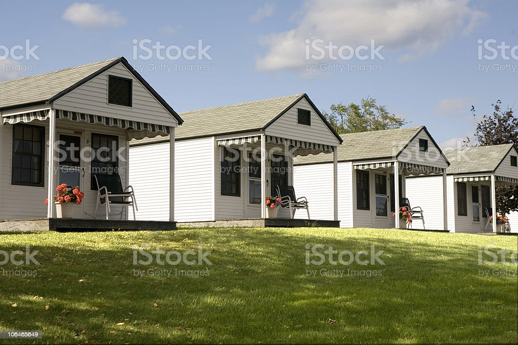 Vacation Cottages stock photo
