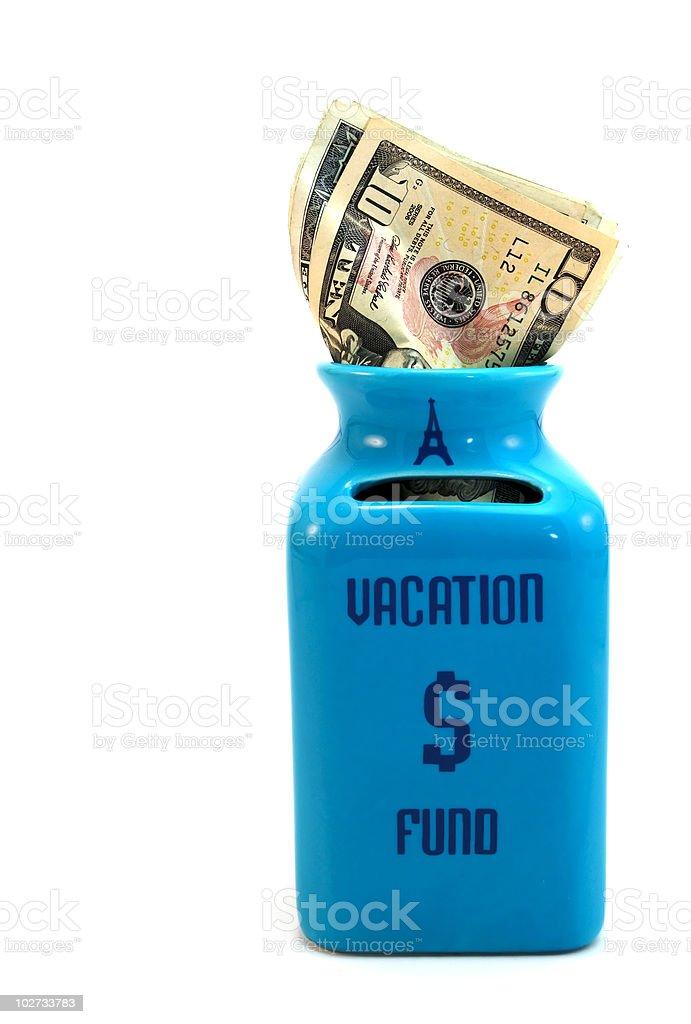 Vacation Fund Savings Jar XL royalty-free stock photo