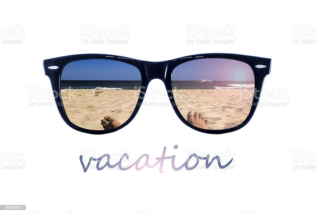 Vacation glasses royalty-free stock photo