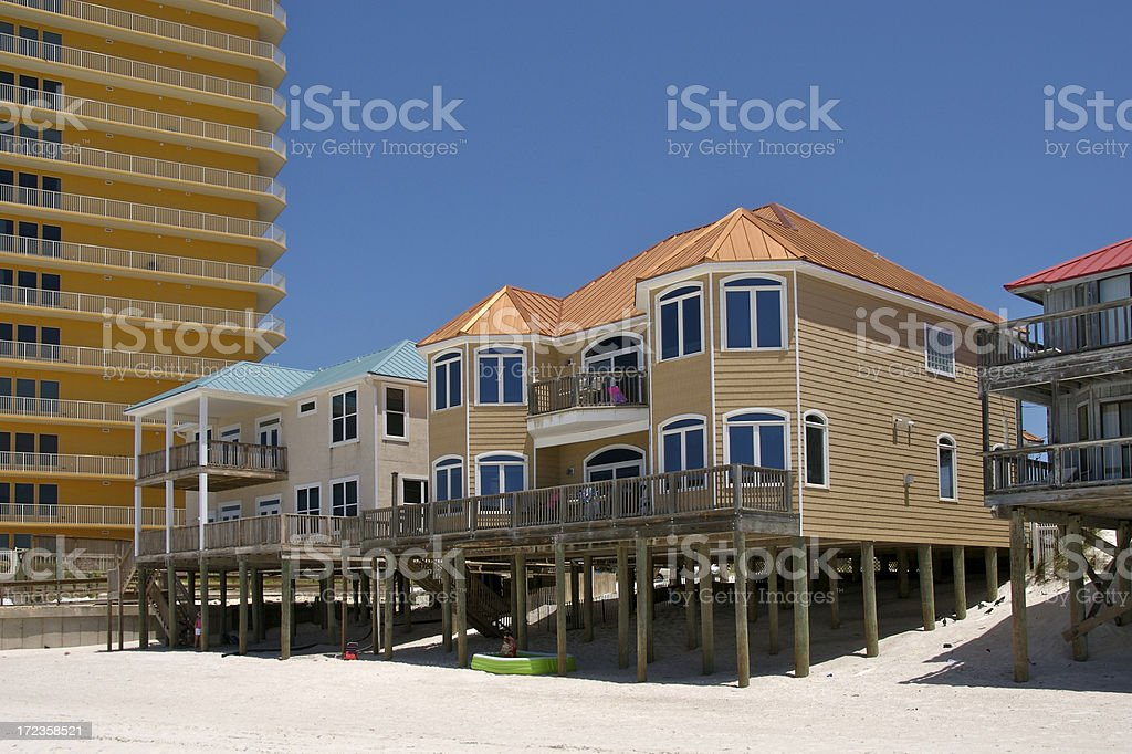 Vacation Home on the Beach stock photo