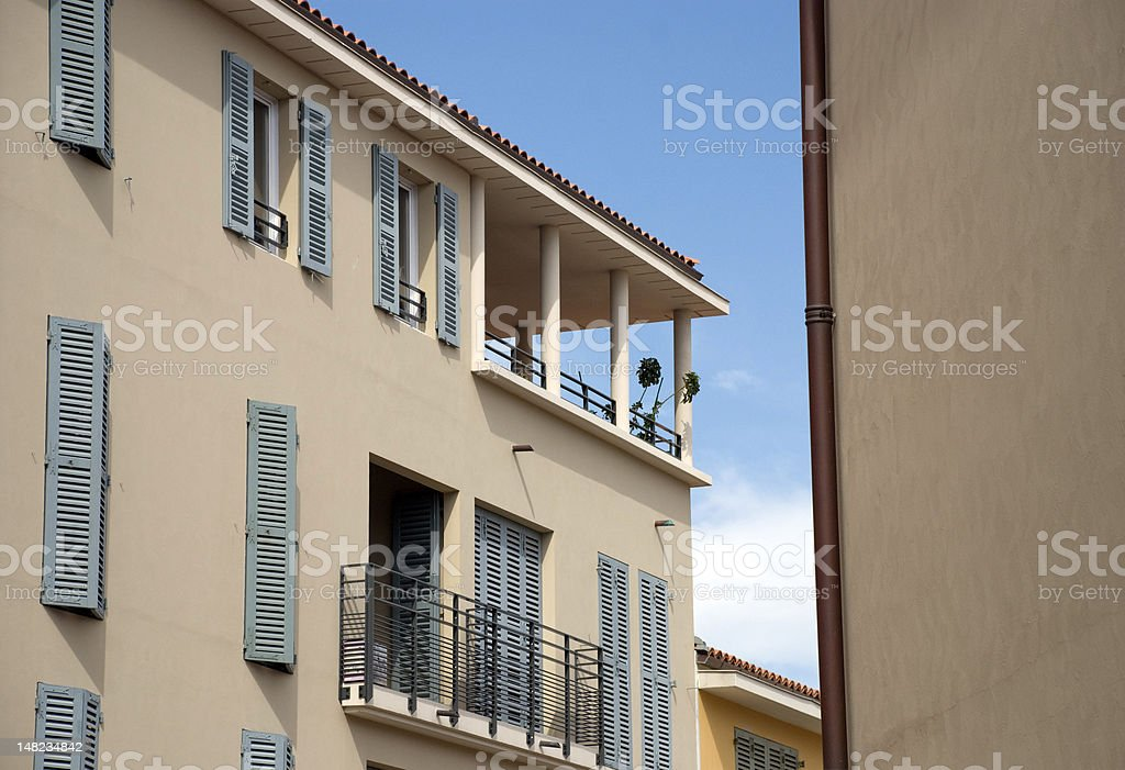 Vacation houses in Fréjus royalty-free stock photo