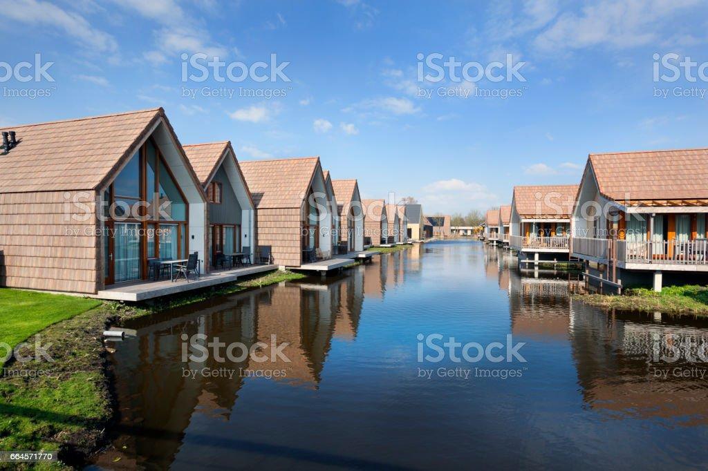 Vacation houses in Reeuwijk stock photo