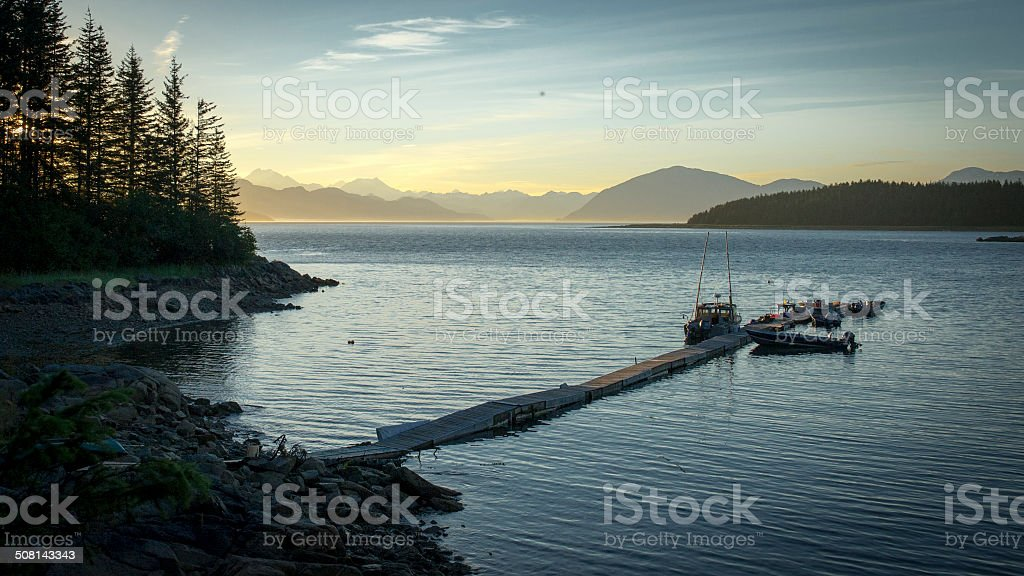 Vacation in Alaska stock photo