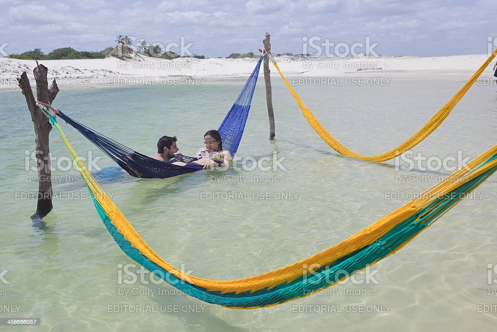 Vacation in Jericoacoara, Brazil stock photo