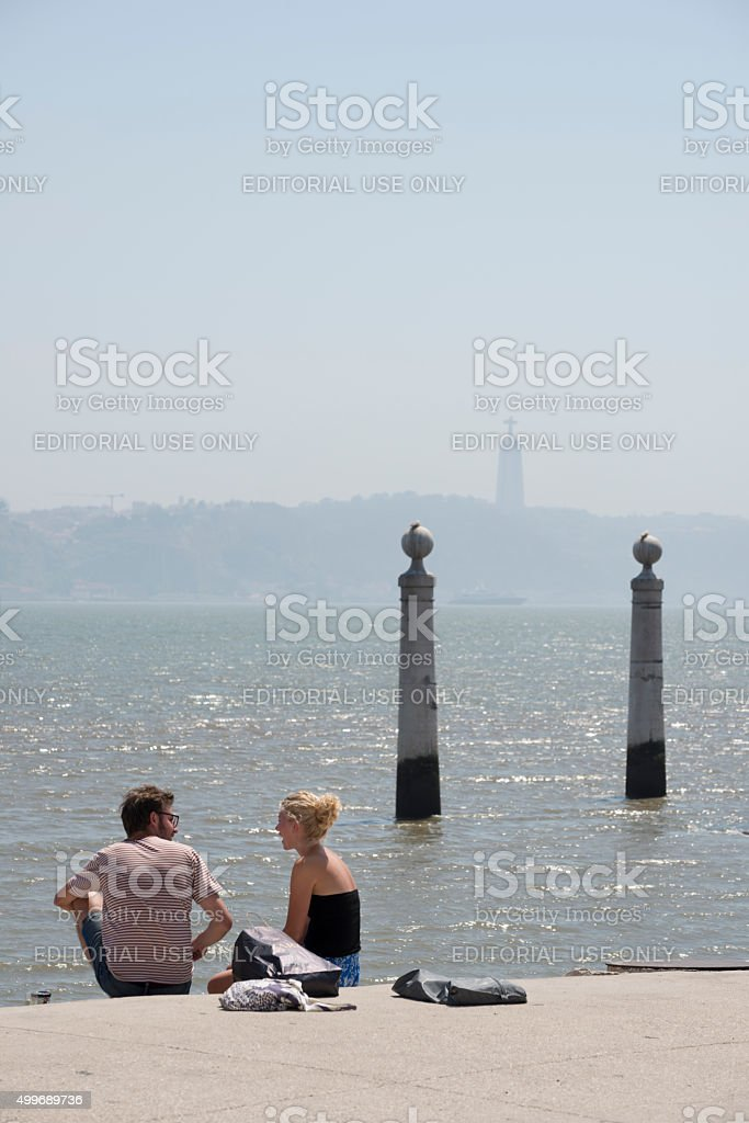 Vacation in Lisbon, Portugal stock photo