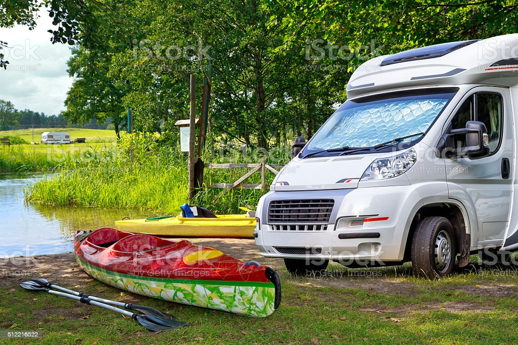 Vacation in Masuria, Poland stock photo