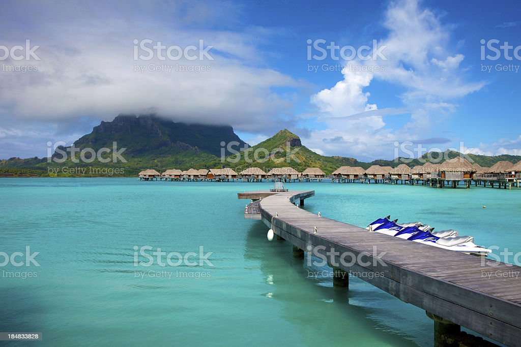 Vacation in South Pacific royalty-free stock photo