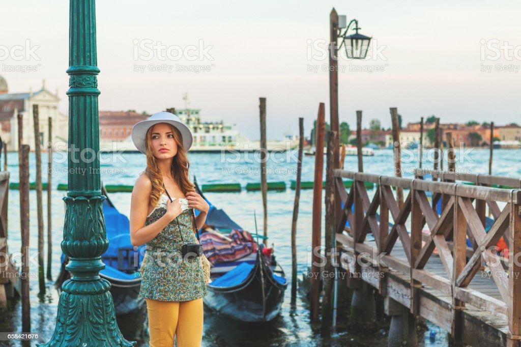 Vacation in Venice, Italy stock photo