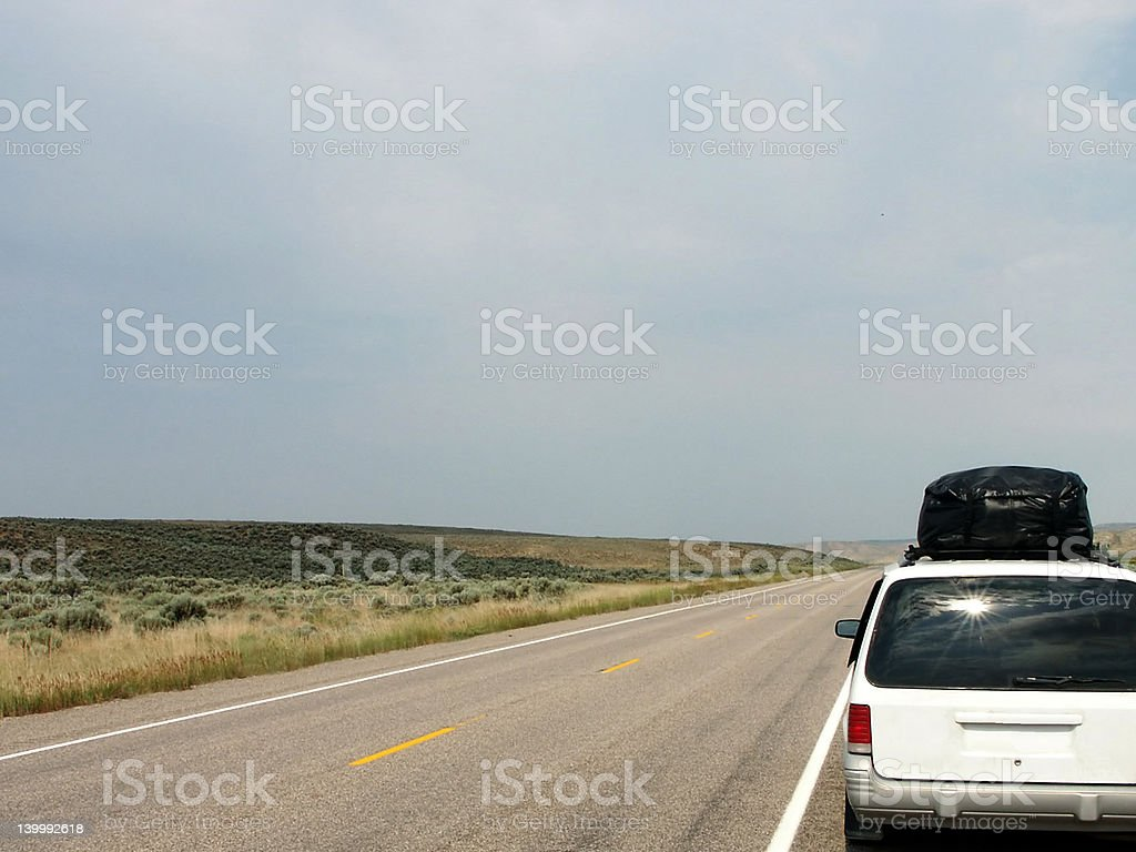 Vacation in Wyoming royalty-free stock photo